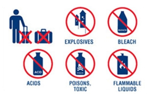 airplane prohibited items